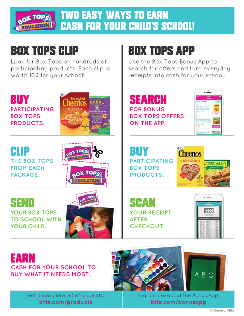 Box Tops info flyer